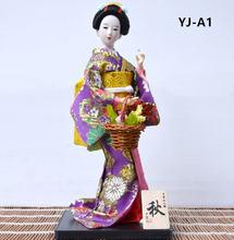 Myblue 30 см kawaii ручная работа кимоно японской гейши кукла