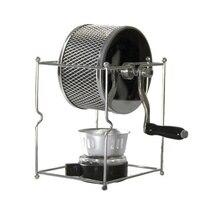 Aço inoxidável máquina de café manual mão-operado rotativo fogão a álcool a gás máquina de cozimento de feijão máquina de café expresso