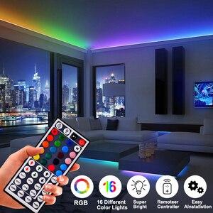 Bluetooth RGB Светодиодная лента 10 м водонепроницаемый светодиодный неоновый светильник 2835 DC12V 60 светодиодов/м Гибкий Светильник ing лента контрол...