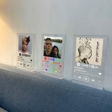 Creative Custom Spotify Style Acrylic Music Board Spotify Personal Photo Style Couple Acrylic Anniversary music Album Plaque