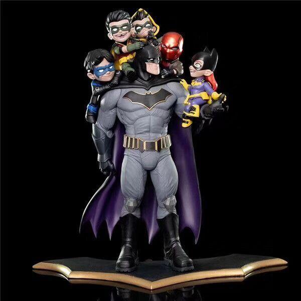 6 Pcs DC Comics Batman Family Q-Master Diorama Statue Figure Toy Brinquedos Figurals Model Toys  Collection Gifts