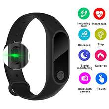 M2/M3 IP67 Smart Bracelet Synchronous Motion Meter Step Counter Bracelet Cycling Heart Rate Monitors Bracelet Fitness Watch(China)