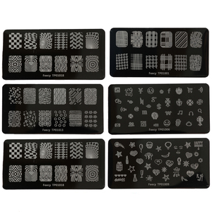 Nail Art Stamping Plates 6*12cm Templates for Nails DIY Stainless Steel Stamper Manicure Stencil Tools Nail Art Stamp Templates