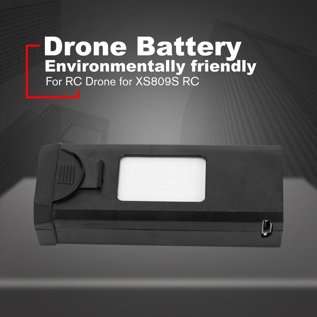 XS809S Battery LiPo 3.7V 1800mAh LiPo Rechargeable Battery For VISUO Shark XS809S XS812 RC Quadcopter Toys