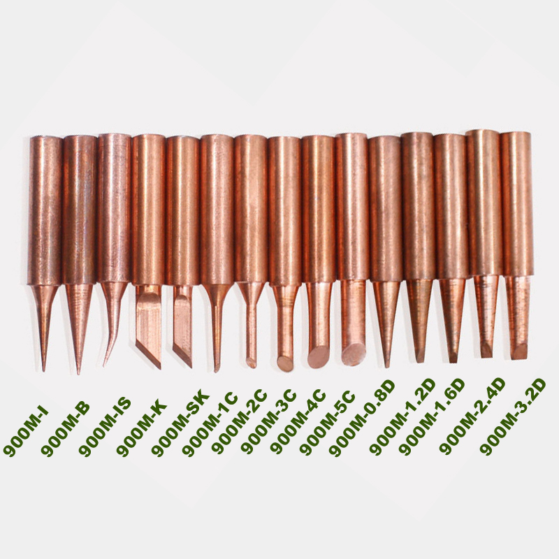 5pcs/lot pure copper Iron tip <font><b>900M</b></font>-<font><b>T</b></font> soldering tip for hakko soldering rework station soldering iron station image