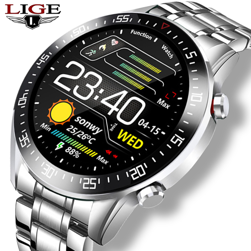 2020 neue Stahl Band Digitale Uhr Männer Sport Uhren Elektronische LED Männlichen Armbanduhr Für Männer Uhr Wasserdicht Bluetooth