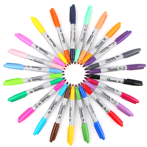 Image 3 - Sharpie Marker Pen Set 12/24 Colored Art Marker Eco friendly Fine Point Permanent Oil Marker Pens Colored Office Stationery