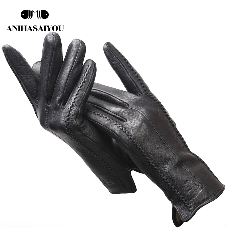 2020 Fashion Sheepskin Women's Gloves,Brand Women's Leather Gloves,winter Outdoor Keep Warm Touch Gloves-2226F