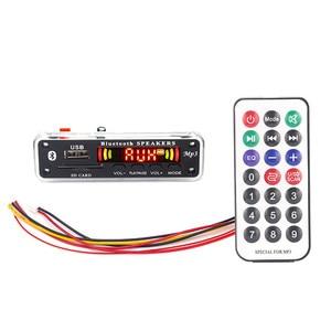 Image 1 - Módulo de Radio FM para coche, USB, TF, inalámbrico, Bluetooth, 5V, 12V, placa decodificadora MP3, WMA, con Control remoto