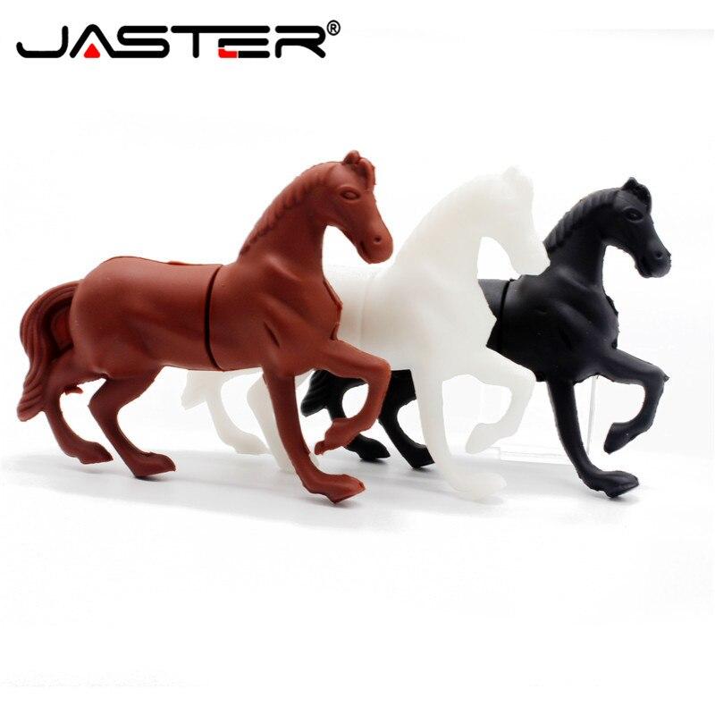 JASTER USB Flash Drive Mini Elegant Horse 4GB 16GB 32GB 64GB Pendrive USB 2.0 Cle USB For Children's Gifts Memoria USB Pen Drive