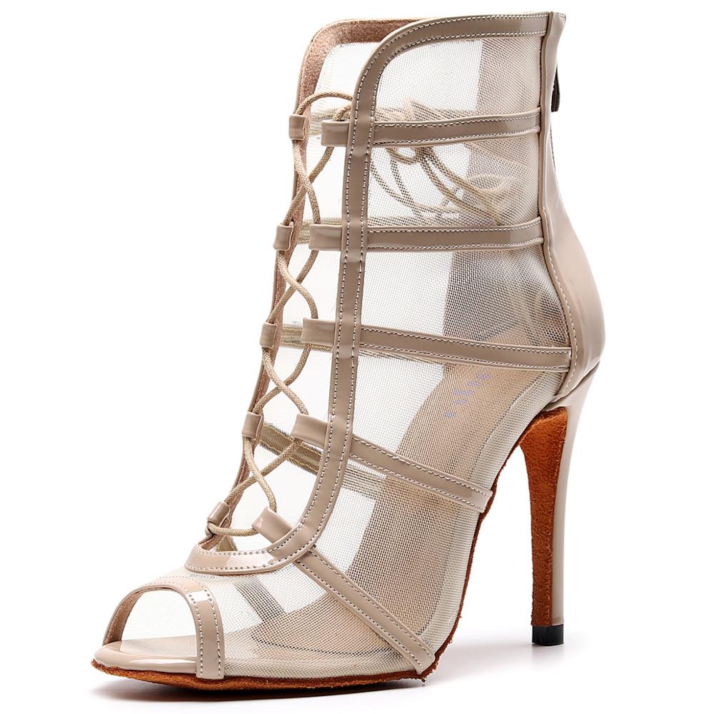 Customizable Salsa Jazz Ballroom Latin Dance Shoes for Dancing Women Modern High Heels Baile Boot 2020 Summer Boots