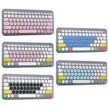 Besegad Модный Цветной силиконовый чехол для клавиатуры для ноутбука, защитная пленка для клавиатуры с Bluetooth для K380