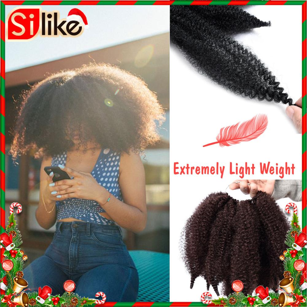 8'' Crochet Marley Braids Black Hair Soft Afro Twist Synthetic Braiding Hair Extensions High Temperature Fiber For Woman