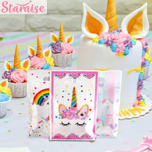 Staraise 10pcs Unicorn Birthday Party Gift Bags Wedding Favors Baby Shower Bag Flamingo Decor For Kids Gifts