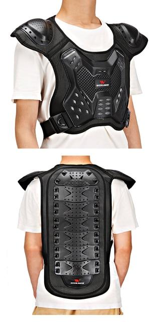 WOSAWE Motocross Body Armor Jacket Vest Gilet Protective Gear Shorts MTB Windbreaker Coat Chest Back Support Motorcycle Armor 3