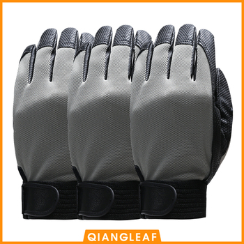 QIANGLEAF 3pcs Brand Blue Work Gloves Safety Equipment Man Driving Glove Mining Safety Wear Resistant Rubber Gloves 2510 qiangleaf 3pcs new free shipping protection glove d grade cowhide yellow ultrathin leather safety work gloves wholesale 527np