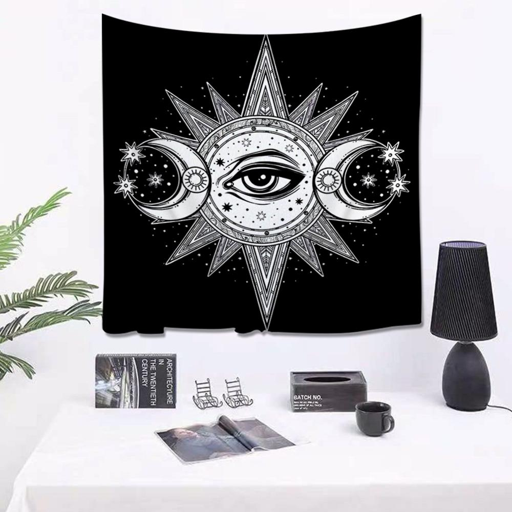 Tarot Sun Moon Pattern Tapestries Witchcraft Indian Mandala Tapestry Wall Hanging Bohemia Gypsy Home Bedroom Decors Background