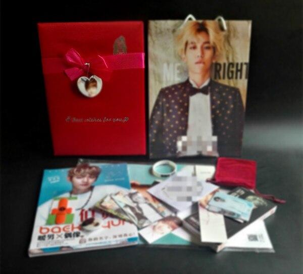 [MYKPOP] coffret cadeau de luxe CD + livre Photo + affiche + signets, Collection Fans KPOP E9 SA19070603