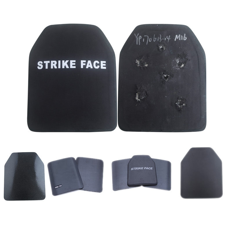 Composite PE Ceramic Bullet-proof Insert Plate Steel Tactical Vest Bullet-proof Backcoat With Built-in Breast Insert Plate Core