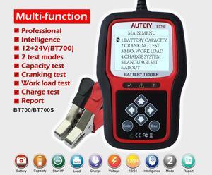 AUTDIY BT700 автомобиля Батарея Тесты er 12/24V Авто Батарея анализатор 2 Тесты режим быстрого/точные автомобиля Батарея диагностический инструмент ...