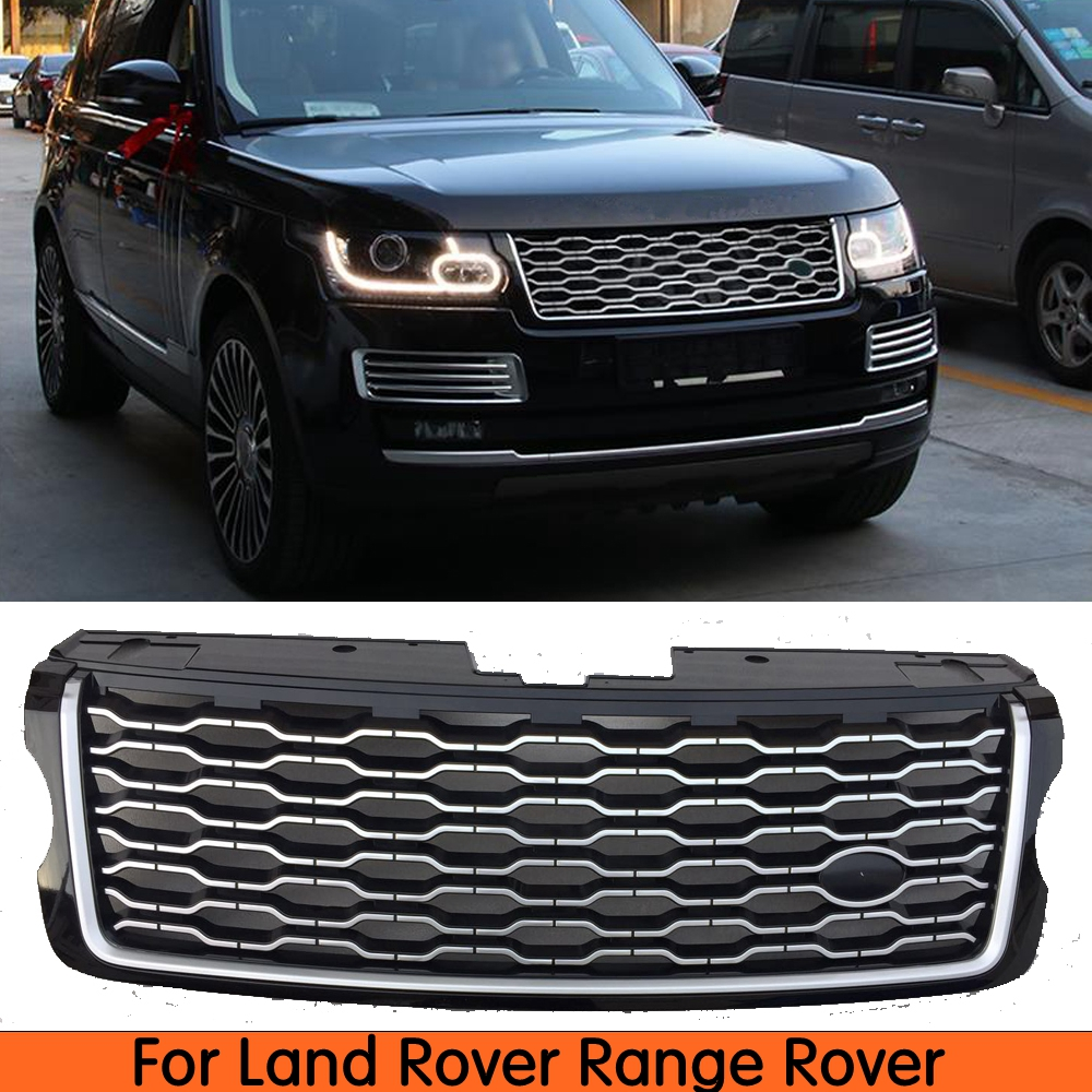 RC Trading Gloss Black Mesh Front Grille Compatible for Land Rover Discovery Sport 2015 2016 2017 2018 DSB