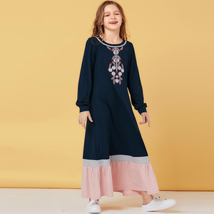 Abaya Kaftan Clothes For Girls From 8 To 12 Years Old Muslim For Kids Turkey Children Hijab Dress Abayas Dubai Islam Clothing