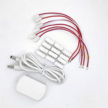5V Adapter USB zasilacz z 6 portami wyjściowymi układ kolejowy układ kolejowy układ pociągu układ światła uliczne tanie i dobre opinie MDWD CN (pochodzenie) Z tworzywa sztucznego 12 + y Unisex 1 87 do budynków USB-ZT0506 For Scale Model Making Only Powersupply