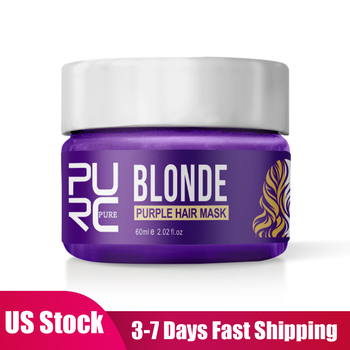 60ml Blonde Hair Mask Shampoo Anti Brass Off Purple Shampoo Beauty Care Shiny Hair Color Dyed Treatment Hair Care