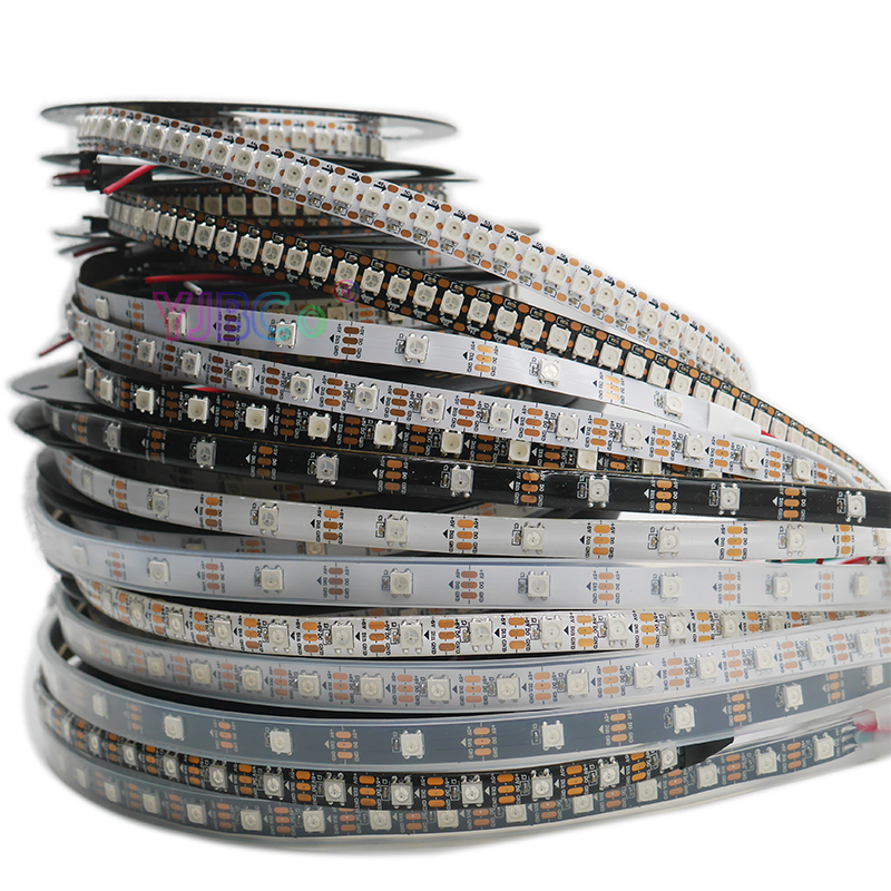 <font><b>WS2812B</b></font> Smart pixel led strip light;1m/2m/3m/4m/5m WS2812 IC;30/60/144 pixels/leds/m;IP30/IP65/IP67,<font><b>DC5V</b></font> led lamp tape image