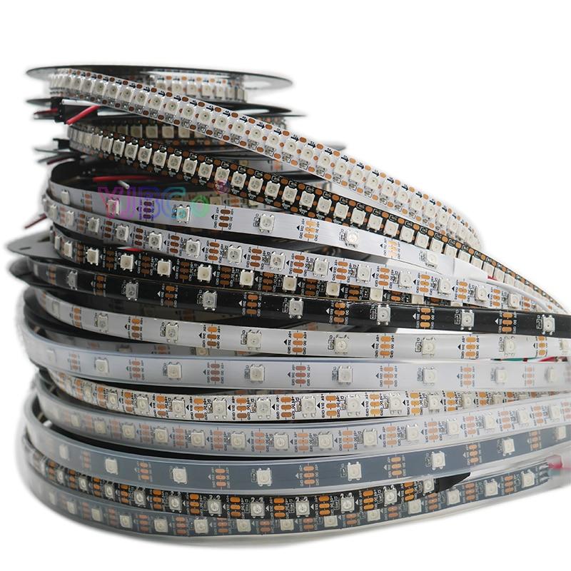 Светодиодная ленсветильник WS2812B Smart pixel, 1 м/2 м/3 м/4 м/5 М WS2812 IC;30/60/144 пикселей/светодиодов/м; IP30/IP65/IP67, светодиодная лента DC5V