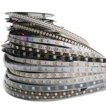 Ws2812b pixel inteligente conduziu a luz de tira; 1m/2m/3m/4m/5m ws2812 ic; 30/60/144 pixels/leds/m; ip30/ip65/ip67, DC5V fita lâmpada led