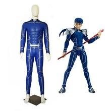 Neue Fate/Extra Bleiben Nacht Lancer Cosplay Kostüm Chulainn PU Leder Overall Halloween Erwachsene Kostüme für Frauen/Männer angepasst