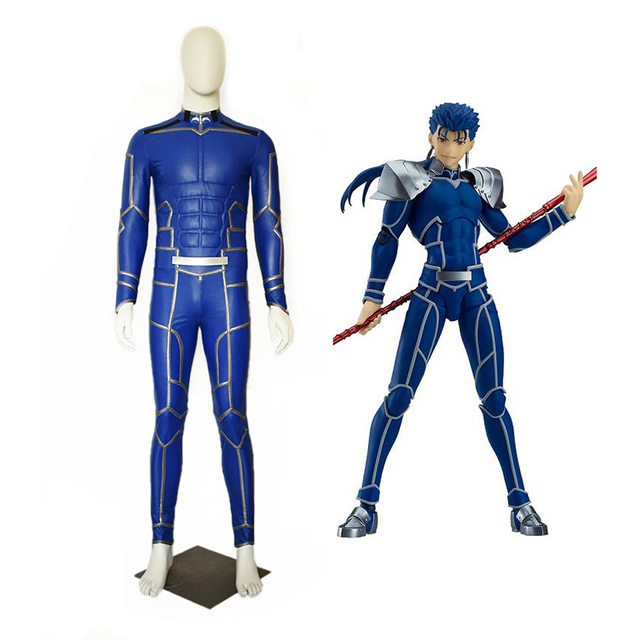 New Fate/Extra Stay Night Lancer Cosplay Costume Chulainn PU Leather Jumpsuit Halloween Adult Costumes for Women/Men Customized