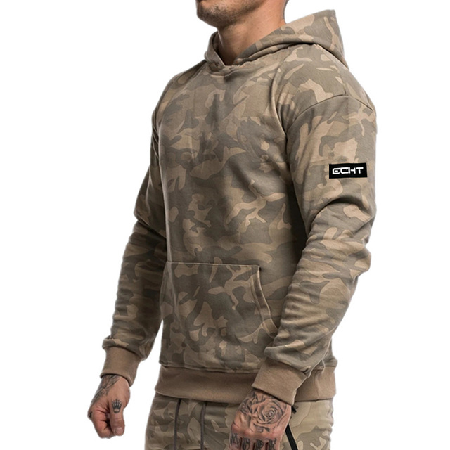 Men  Sweat Suits Tracksuit Camouflage Two-piece Suit Hoodies and Pants Hunting Outdoor Sports Clothes for Men 1
