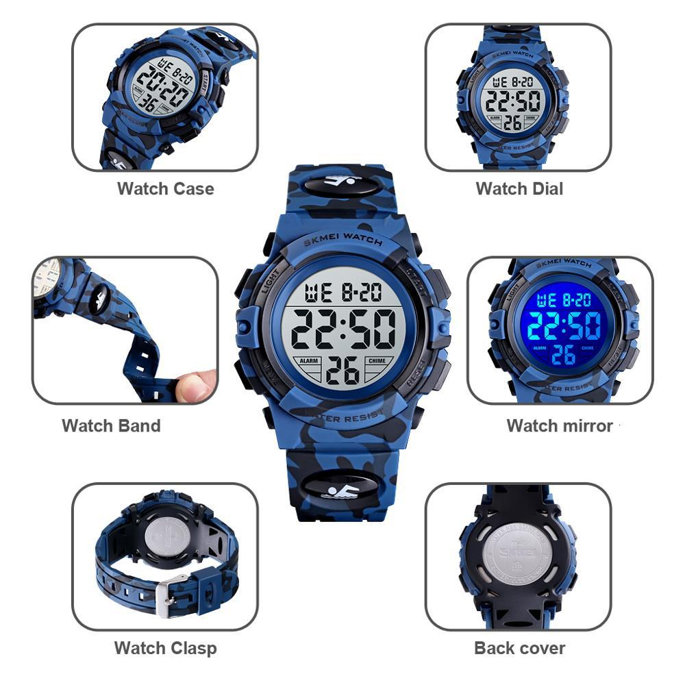 <font><b>SKMEI</b></font> Fashion Kids Watches Sport Children's Watch 5bar Waterproof Colorful Lights 12/24Hour Camouflage relogio infantil Boy image