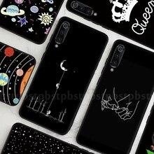 Black TPU Pattern Cover Case For Xiaomi Mi 9T Pro A3 Lite CC9 CC9E 9 SE Redmi K20 Pro Ultra Thin Soft Silicone Phone Case Fundas