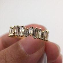 Irregular Rectangle Ring Engagement Handmade Rainbow Trapezoid Stone For Women Fashion Finger Accessories Anel Wedding Band