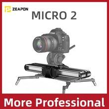 Zeapon micro 2 câmera trilho slider liga de alumínio leve portátil versátil opções de montagem para dslr e câmera mirrorless