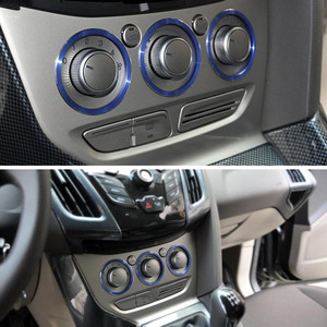 Alijunda Car styling Air Conditioning heat control Switch knob AC Knob decoration ring car accessories for Ford focus 3 MK3 KUGA