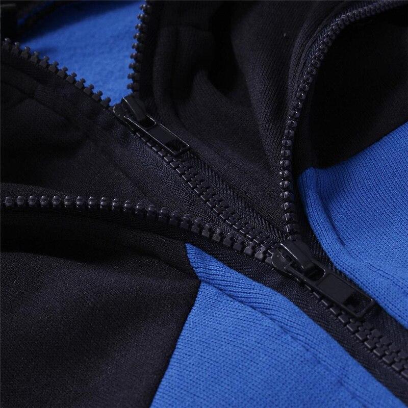 2020 New Autumn Men Tracksuit 2 Piece Sets Hoodies+Pants Sweater Sports Suit Streetswear Jackets 5