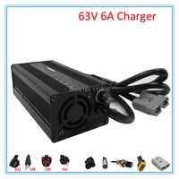 450W 55.5V chargeur de batterie au Lithium 63V 6A li ion chargeur 15S 20AH 30AH 50AH ebike chargeur livraison gratuite
