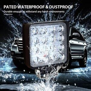 Image 5 - Auxtings 20pcs/Lot waterproof 48w Flood/Spot led Work Light bar waterproof CE RoHS offroad truck car LED work light 12v 24v