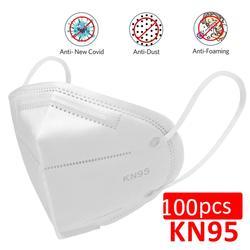 Máscara protectora KN95 de 100/200 Uds., equipo de protección Personal, no tejida PM 2,5 máscara antipolvo, máscara antibacteriana N95