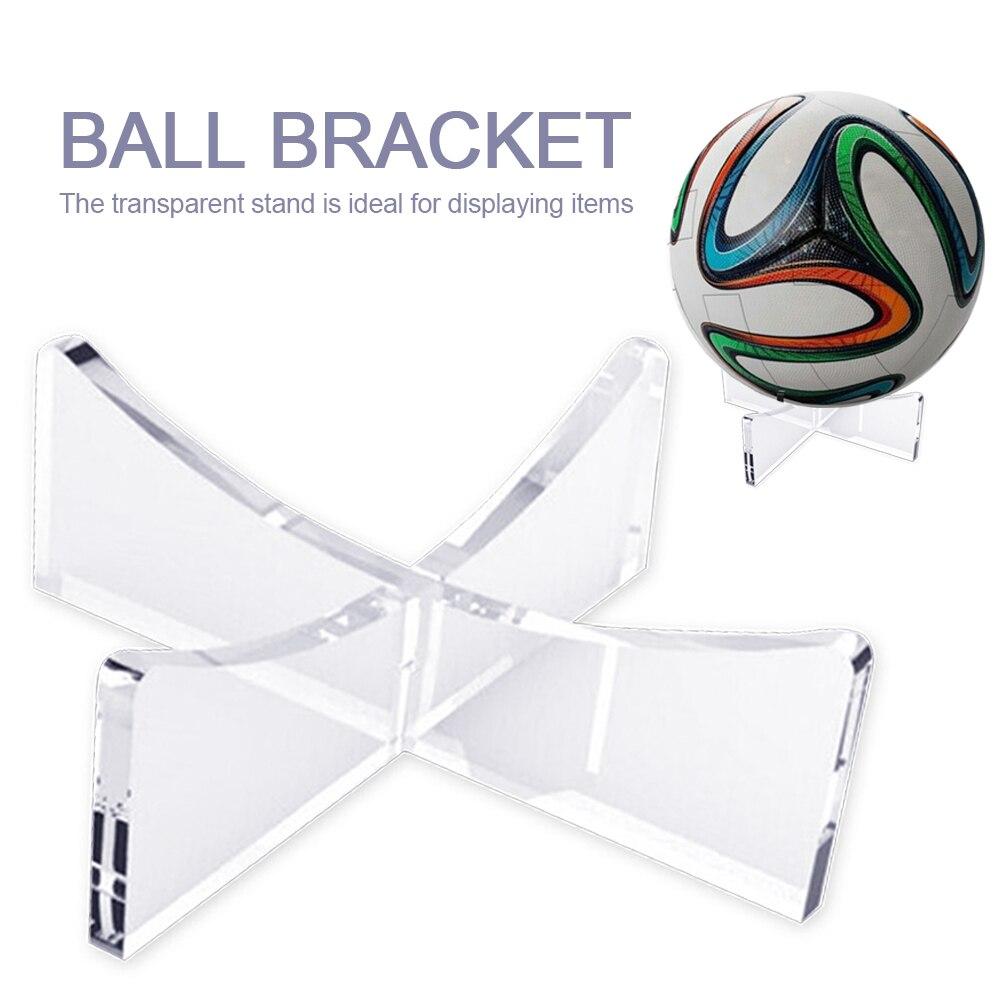 Espositore da Bowling Rugby basket supporto per staffa per pallone da calcio Base di supporto per Rack in acrilico trasparente per espositore per palline
