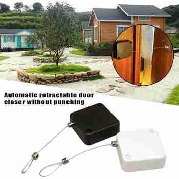 Bezdotykowy automatyczny czujnik zamykania drzwi automatycznie zamyka się dla wszystkich drzwi tanie i dobre opinie MOONBIFFY NONE CN (pochodzenie) STAINLESS STEEL Urządzenia do zamykania drzwi