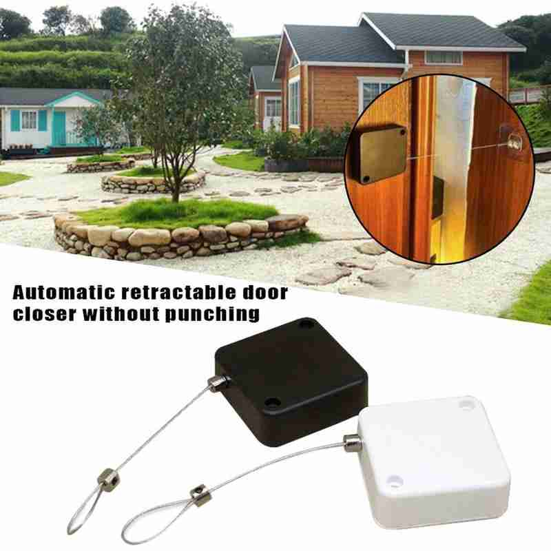 1m, 2color Multifunctional Automatic Door Closer Punch-free Automatic Sensor Door Closer Automatically Close for All Doors