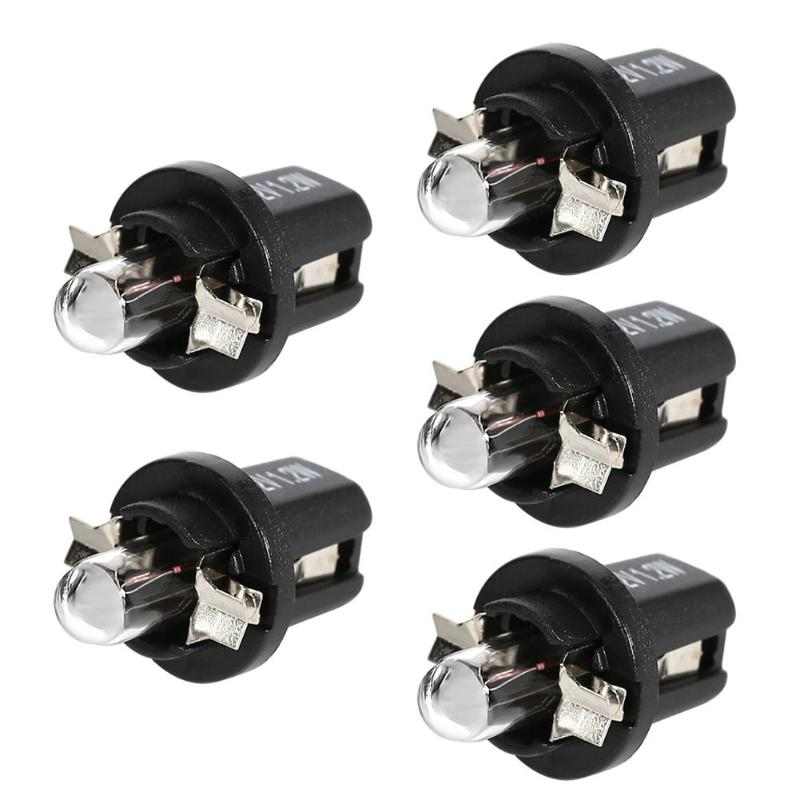 VODOOL 5Pcs <font><b>T5</b></font> B8.5D B8.4D <font><b>12V</b></font> Halogen Bulbs Car Gauge Light For Auto Interior Dashboard Instrument Lighting Light Lamp image