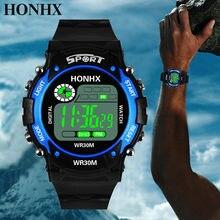 Relógio inteligente digital analógico display led com alarme data relógios masculino esportes ao ar livre silicone relógio de pulso reloj hombre homme