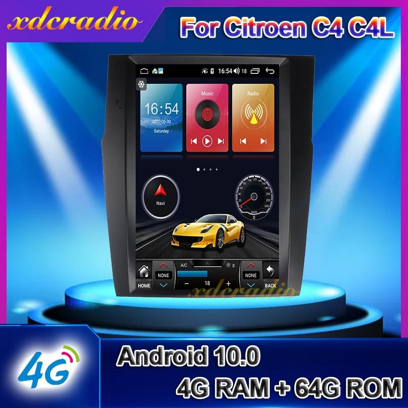 Xdcradio вертикальный экран Tesla Style 12,1 ''Android 10,0 для Citroen C4 C4L DS4 автомагнитола GPS навигация автомобильный Dvd-плеер 4G