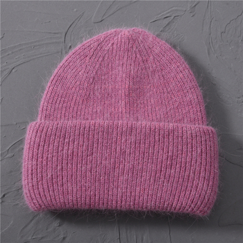 Casual Women's Hats Cashmere Wool Knitted Beanies Autumn Winter Brand New Three Fold Thick 2020 Knitted Girls Skullies Beanies 13